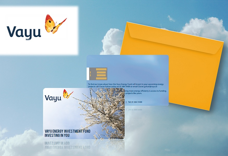 Sky background with Sky background with Vayu direct mail B2B Sales Promotion campaign by Brandfire