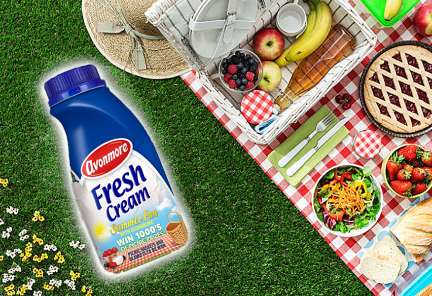 Picnic background with Avonmore Summer Fun Sales Promotion campaign by Brandfire